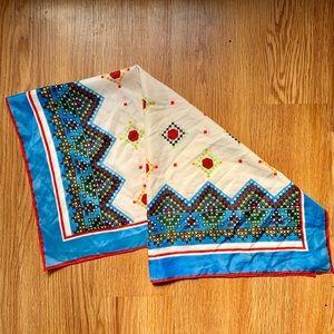 $5 BUY 2 GET 1 🆓 VTG Geometric/Floral Silk Scarf
